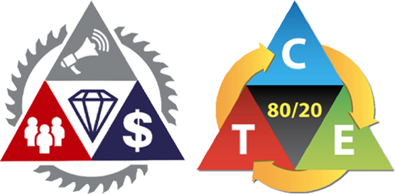 Tactical Triangle is the master roadmap to every single thing that matters in marketing, based on Traffic - Conversion - Economics - 80/20. Diamond Tipped Saw Blade focuses on immediate, 1-hour to 90-days implementation tactics within the Triangle that deliver the most forward motion in fluid, uncertain times such as we are in right now.
